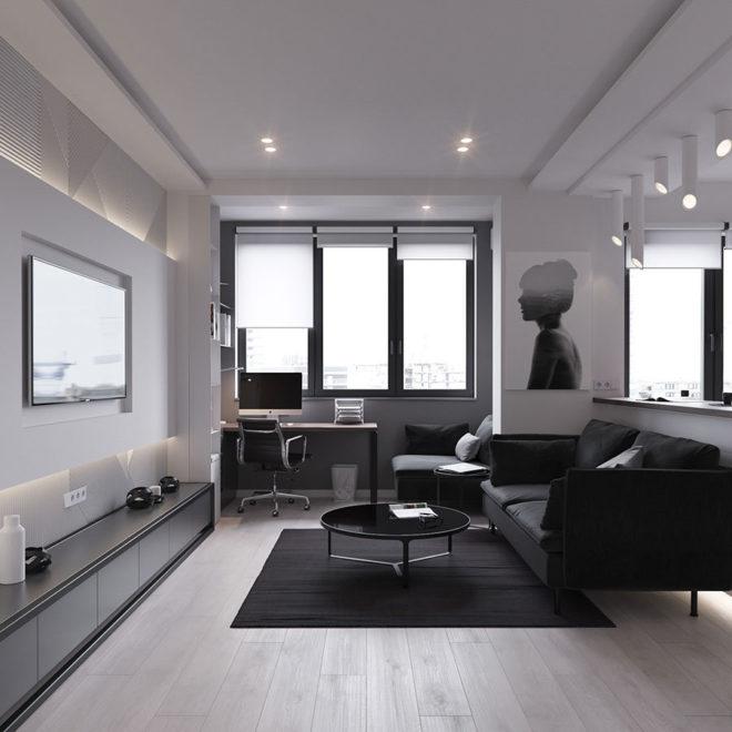 дизайн двухкомнатной квартиры 50 кв м
