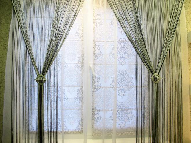 Кисея и рулонные шторы