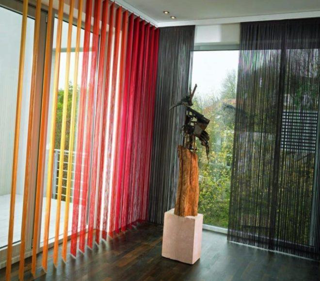 Нитяные шторы разных цветов