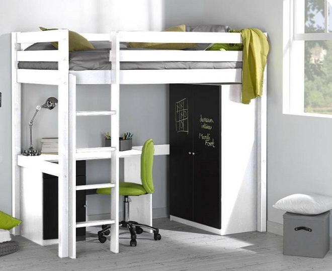 Кровать-чердак с рабочей зоной