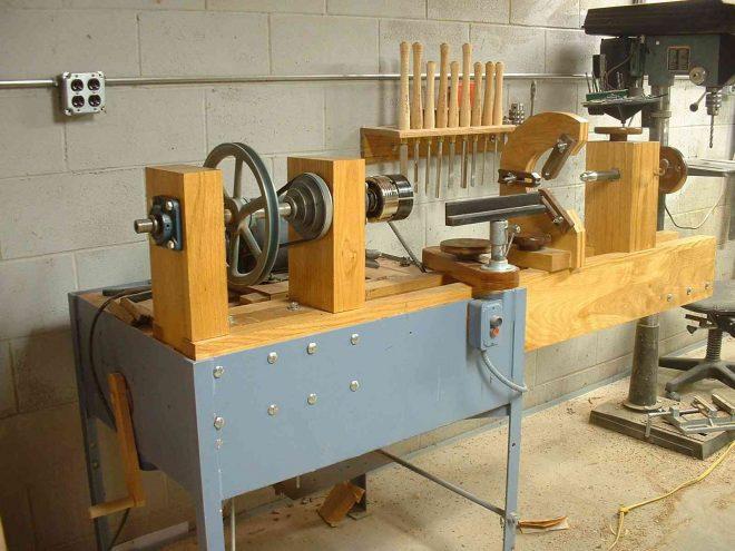 Самодельный токарный станок из дерева