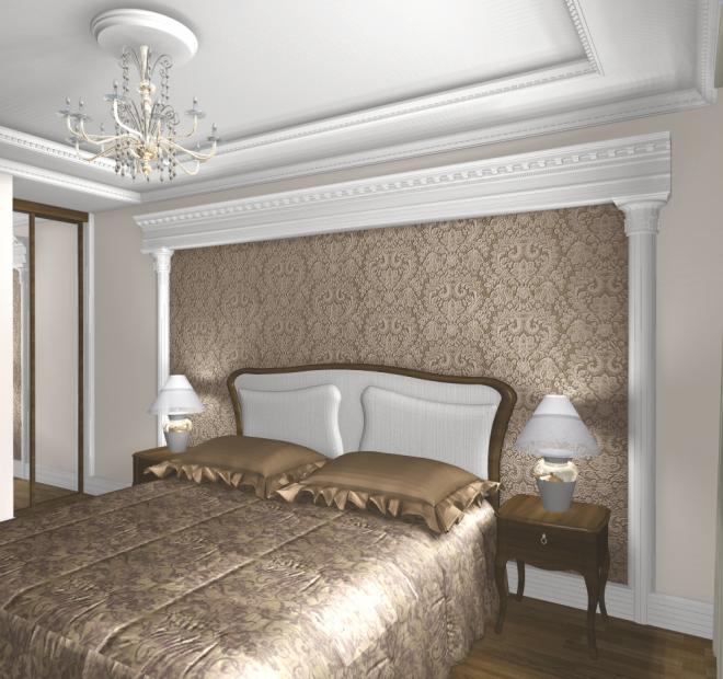 Модель комнаты в классическом стиле