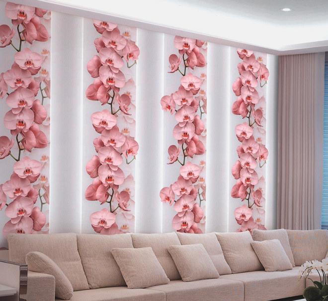3D фотообои с цветами