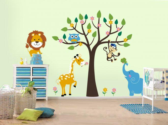 Яркие интерьерные наклейки для детской