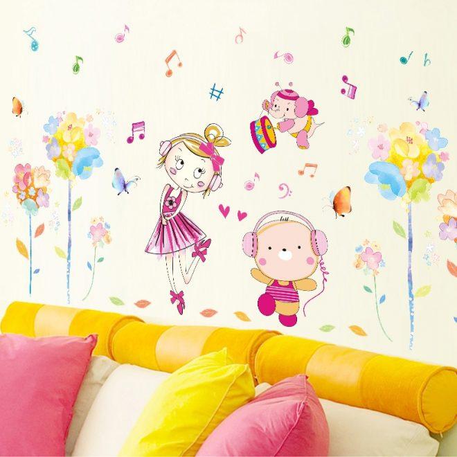 Декоративные настенные наклейки для комнаты девочки