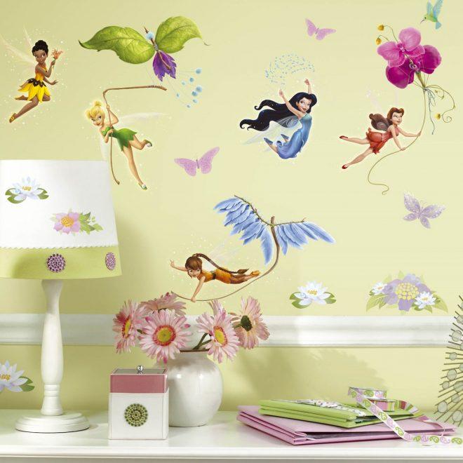 Наклейки на стену с феями