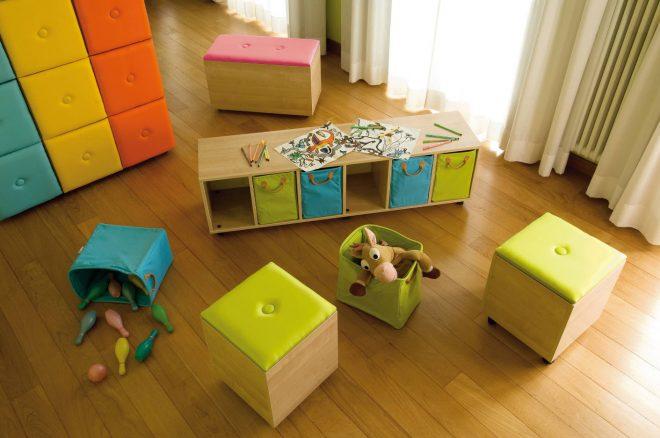 Организация хранения игрушек в детской