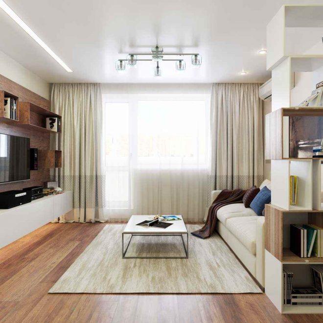 Дизайн светлой современной гостиной