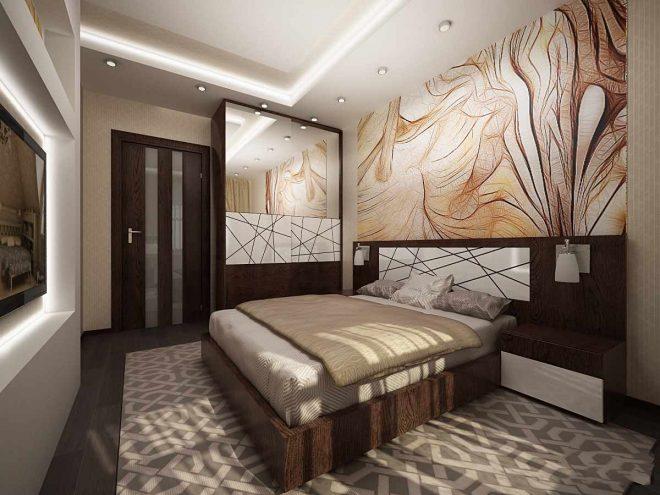 Спальня с абстрактным декором