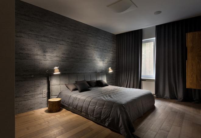 Дизайн квадратной спальни