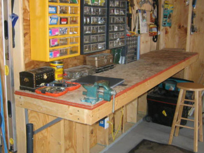 Чертежи слесарного верстака для гаража