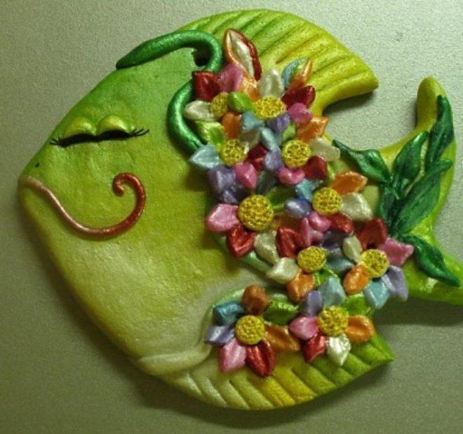 Поделка в форме рыбки