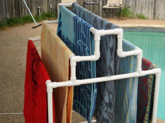 сушилка для одежды из пластиковых труб своими руками