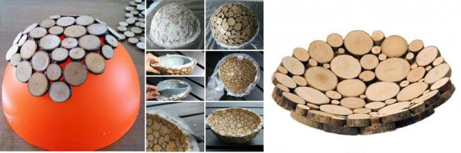 Декоративная тарелка из спилов