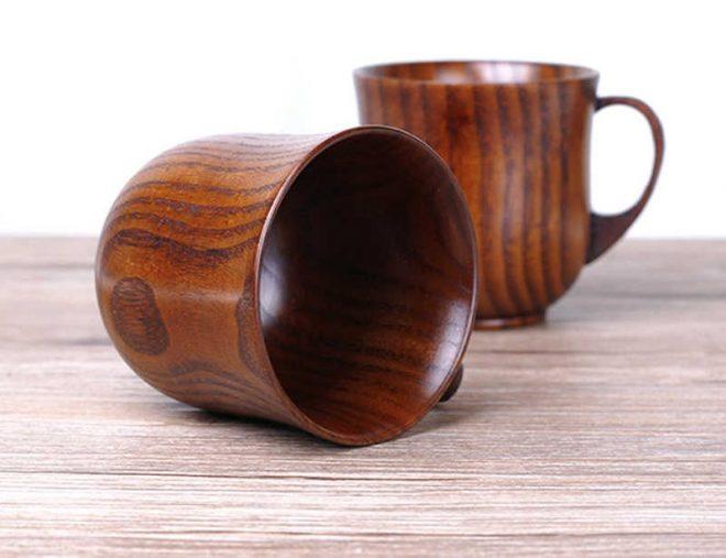 Чашки из дерева