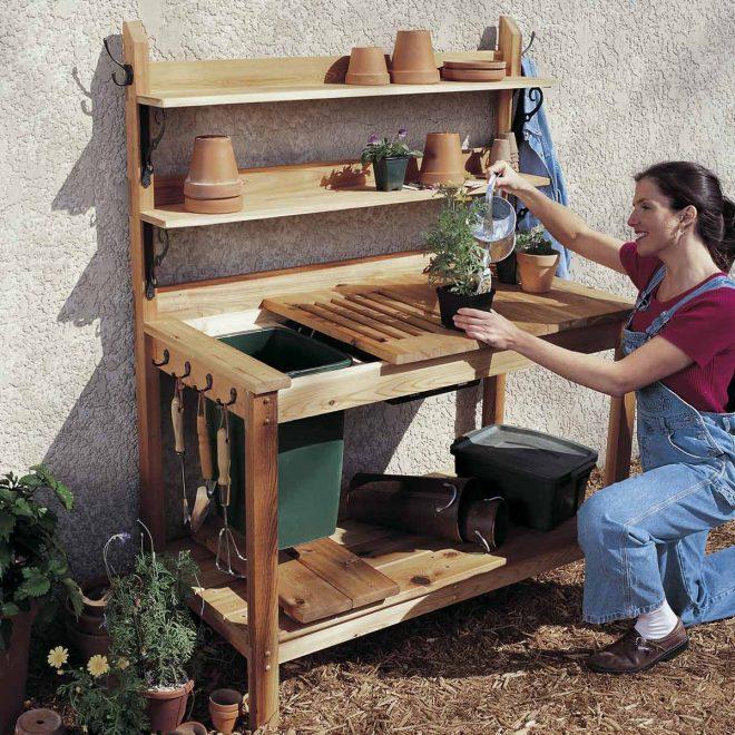 Практичный садовый шкафчик