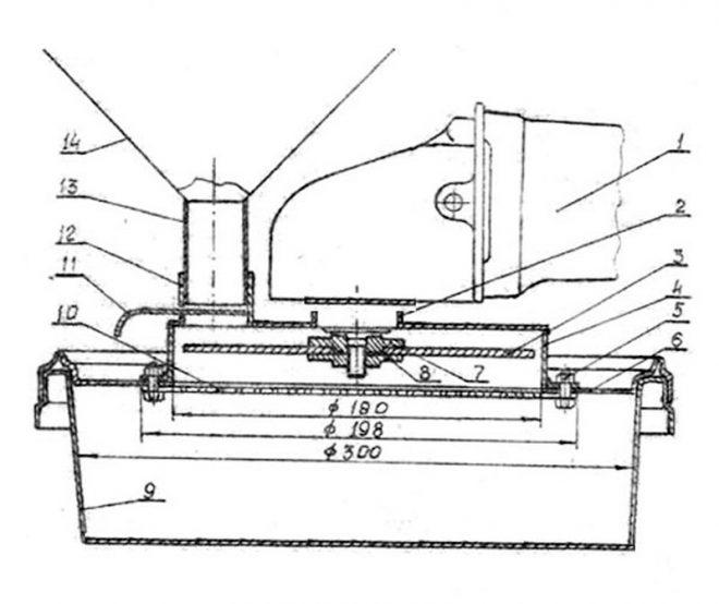 Схема измельчителя зерна