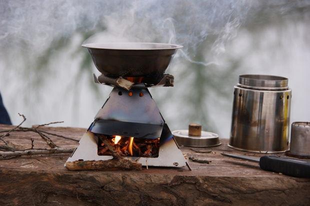 Самодельная походная печка