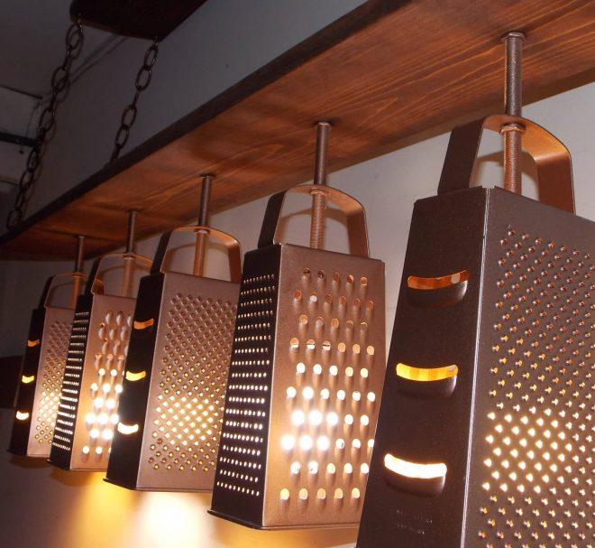 Светильники из тёрок