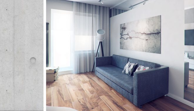 Визуализация светлого интерьера квартиры
