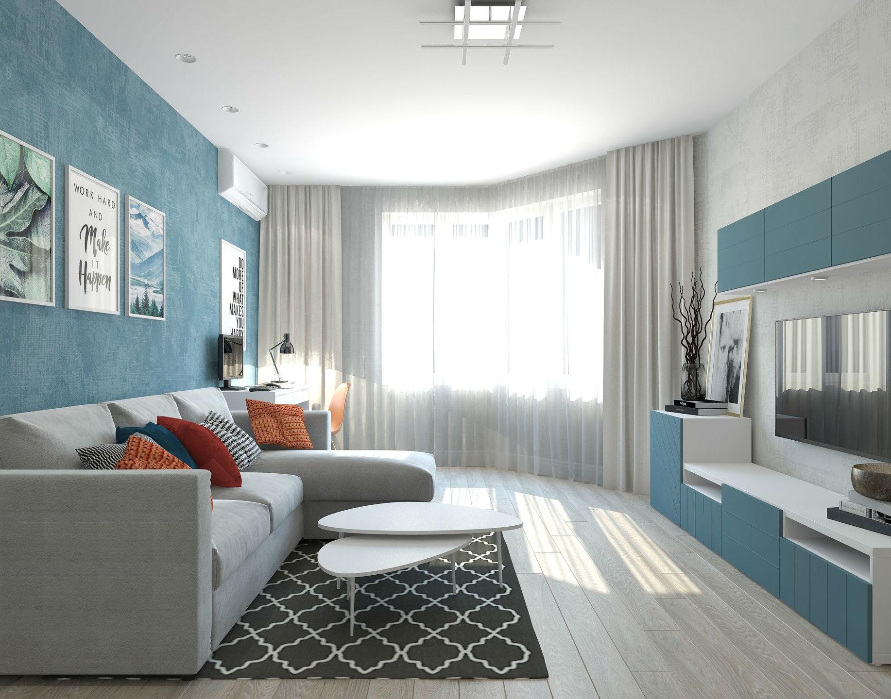 Простой дизайн двухкомнатной квартиры фото