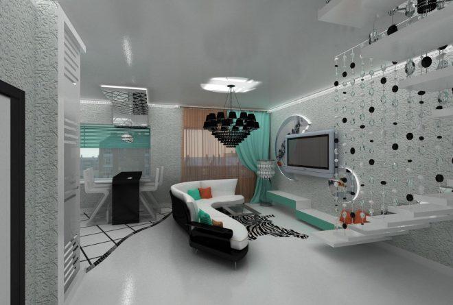 дизайн квартиры студии 21 кв м