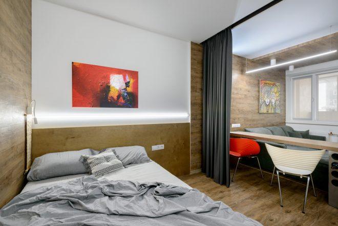 Вариант зонирования квартиры-студии