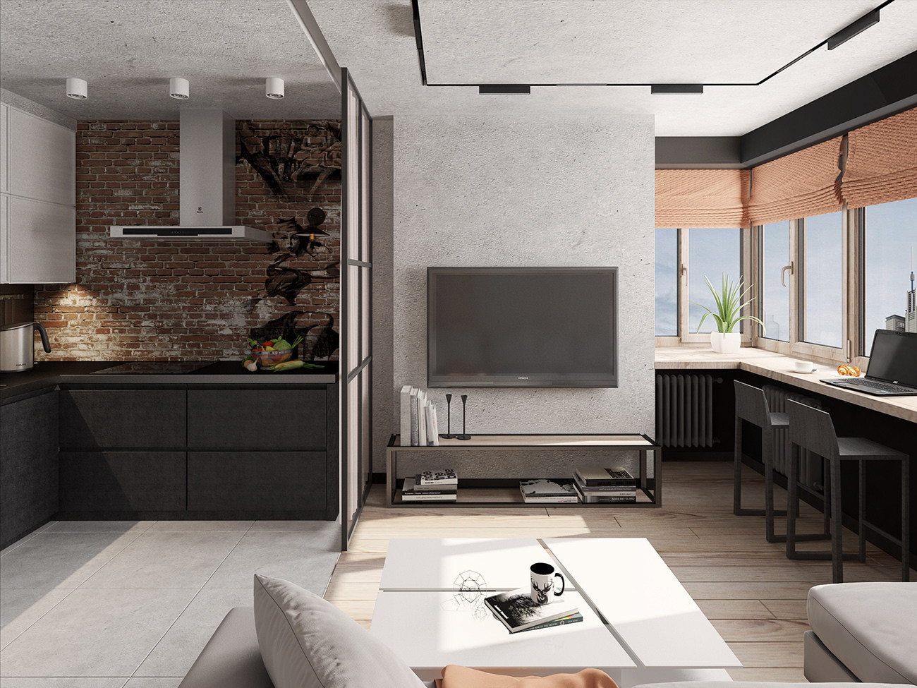 Дизайн проект квартиры студии фото