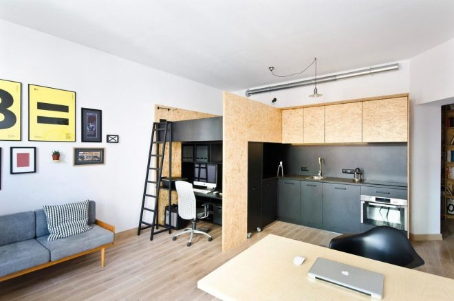 Рабочая зона и кухня