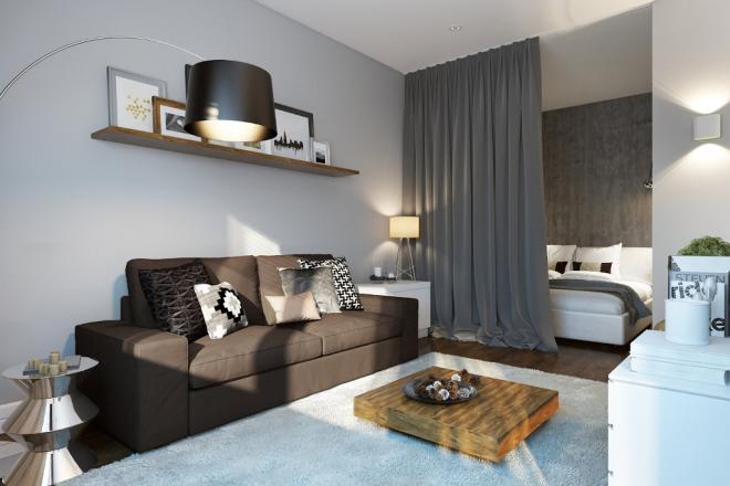 Создание спальной зоны с помощью нищи