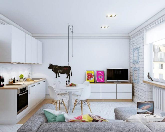 Элементы декора в интерьере квартиры-студии