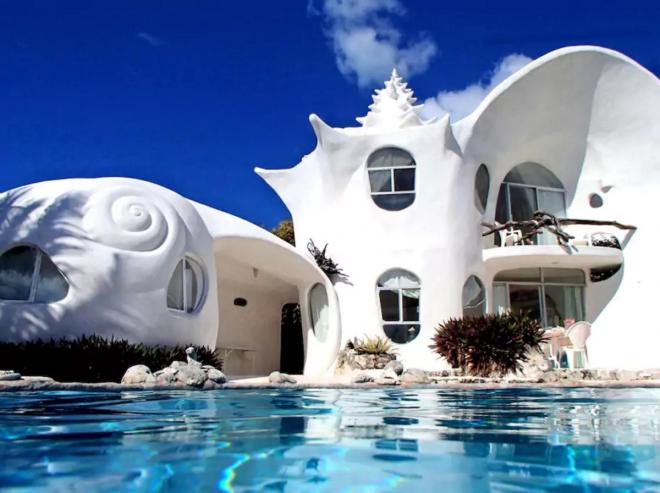 Дом в форме ракушки