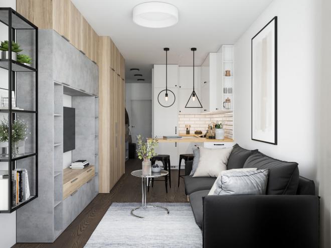 дизайн квартиры студии 23 кв м
