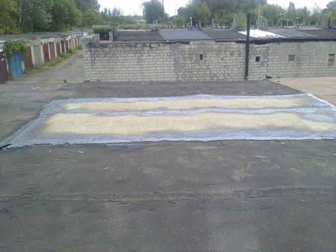 Отремонтированная крыша гаража
