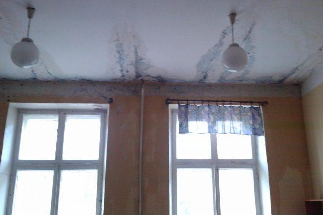Результат протекания крыши