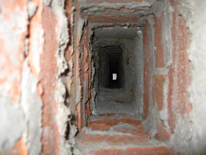Канал дымохода внутри