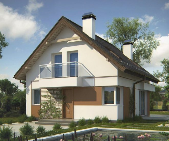 Мансарда в доме с двускатной крышей