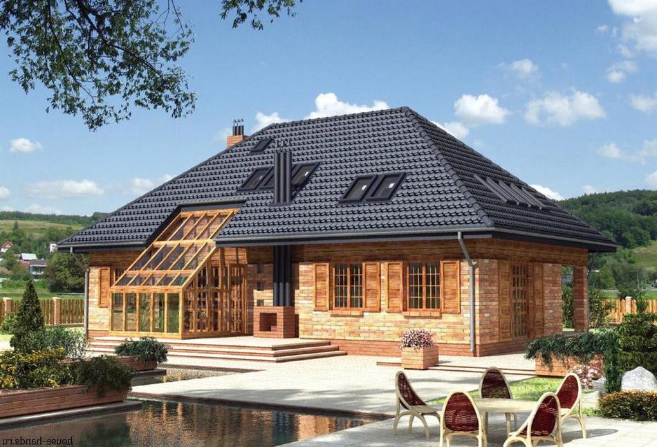 Фото домов с мансардой шатровой крышей