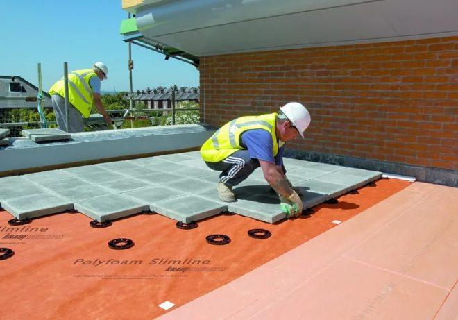 Сооружение плоской крыши
