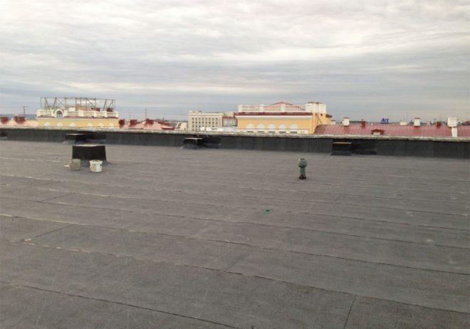 Неинверсионная плоская крыша