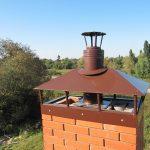 Кирпичный дымоход с вентиляцией