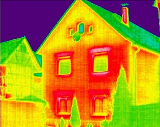 Теплопотери через различные части дома
