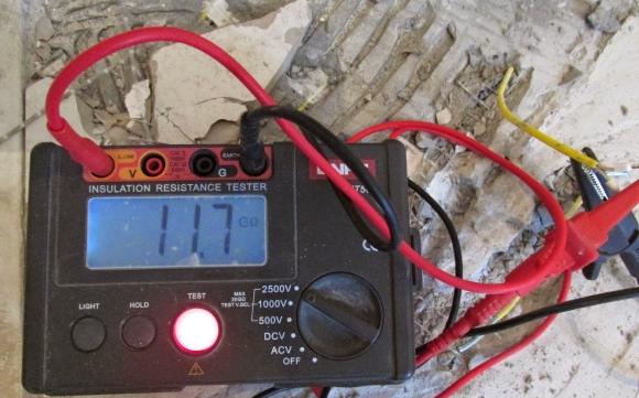 Прозвонка кабеля мегомметром