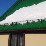 Снегозадержатели на металлической крыше