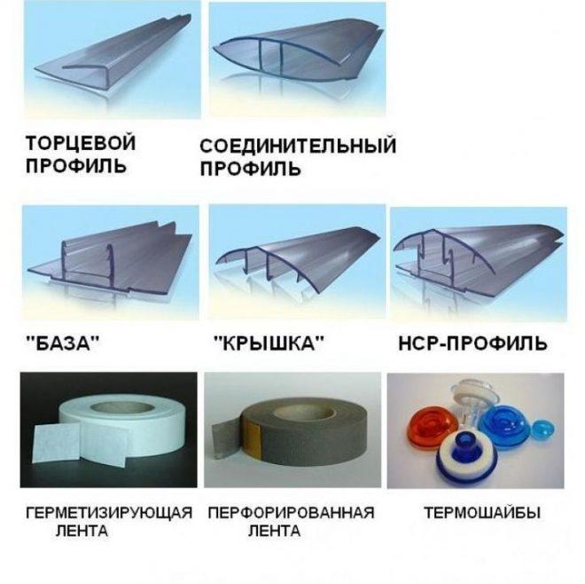 Варианты профилей для поликарбоната