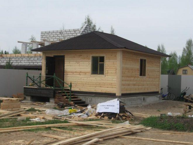 Вариант вальмовой крыши