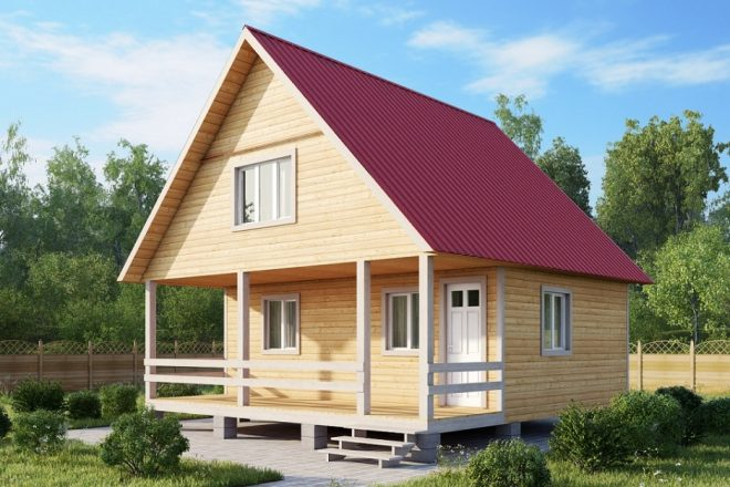 Пример двухскатной крыши