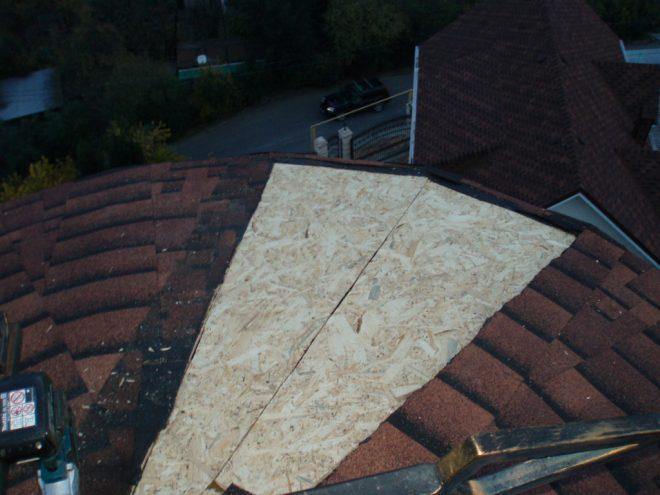 Сплошная обрешётка крыши