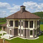 Шатровая крыша сложной конструкции