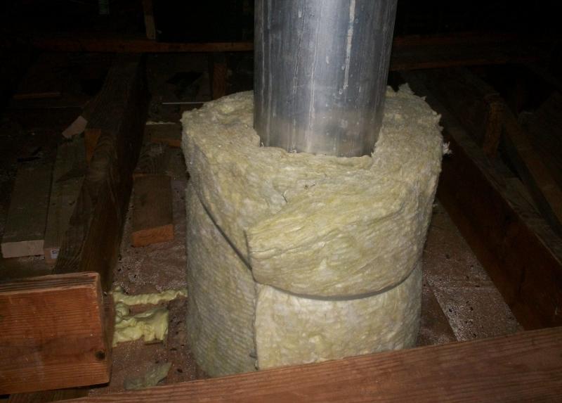 Чем изолировать трубу дымохода металлическую?